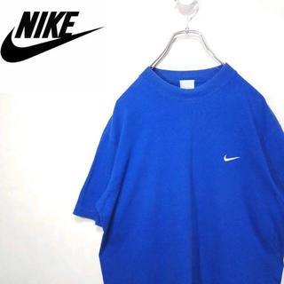 NIKE - 超人気!90s NIKE ナイキ ワンポイントTシャツ M ブルー