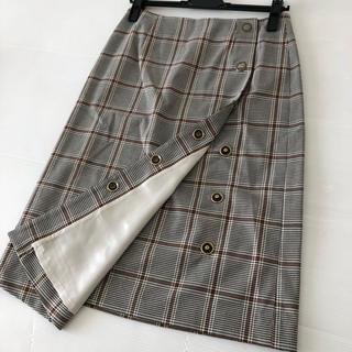 スコットクラブ(SCOT CLUB)の新品◆スコットクラブ 系列◆チェック ラップスカート ベージュ/アーバンリサーチ(ひざ丈スカート)