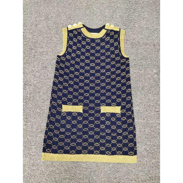Gucci - GUCCI インターロッキングG ラメ ウール ドレスの通販