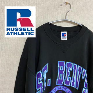 Champion - RUSSELL スウェット 90s USA製 ビッグロゴ 激レア