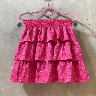 バービー(Barbie)の★バービー★スカート 星 ハート ピンク Mサイズ(ミニスカート)