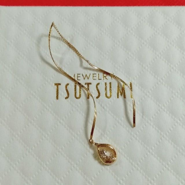 JEWELRY TSUTSUMI(ジュエリーツツミ)のK18金片耳ダイヤモンド💎アメリカンピアス レディースのアクセサリー(ピアス)の商品写真