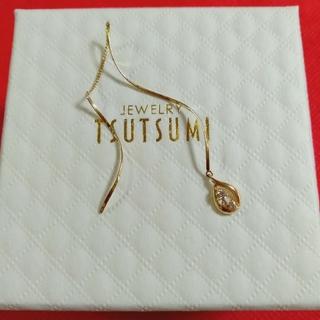 JEWELRY TSUTSUMI - K18金片耳ダイヤモンド💎アメリカンピアス