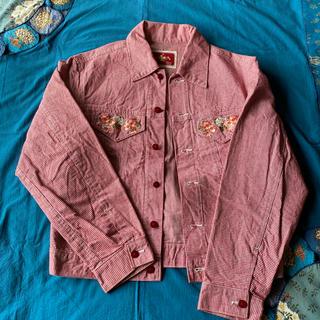 ピンクハウス(PINK HOUSE)のピンクハウス 豪華お花刺繍 ジャケット(Gジャン/デニムジャケット)