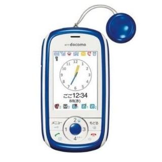 エヌティティドコモ(NTTdocomo)のキッズケータイ HW-01D(ブルー)携帯端末 携帯電話 子供用 キッズ携帯(携帯電話本体)