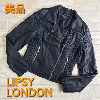 Lipsy - 【リプシーロンドン】美品 ライダースジャケット ブラック UK8 Mサイズ