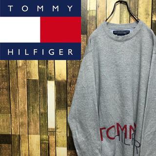 TOMMY HILFIGER - 【激レア】トミーヒルフィガー☆ビッグロゴプリントフラッグロゴスウェット 90s