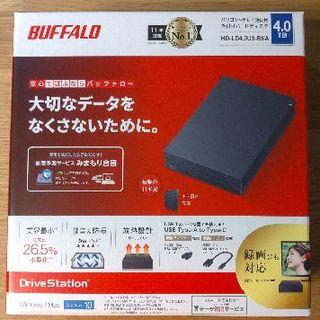 Buffalo - HD-LD4.0U3-BKA BUFFALO 外付けHDD 4TB
