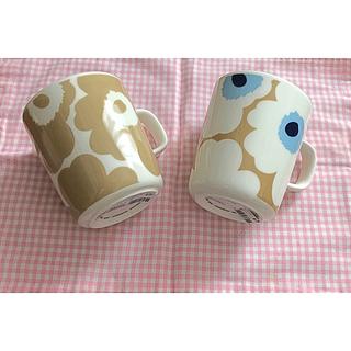 marimekko - マリメッコ  マグカップ2個セット ホワイトベージュ ベージュホワイト