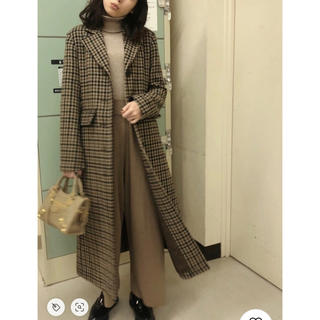 moussy - 新品 MOUSSY WAIST FIT CHECK COAT