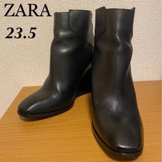 ZARA - ZARA BASIC ショートブーツ  黒 ☆23.5cm