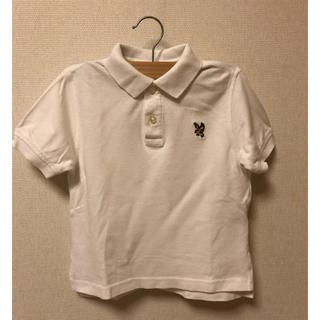 ランズエンド(LANDS'END)の白ポロシャツ ランズエンド 半袖 100㎝ フォーマルに(Tシャツ/カットソー)