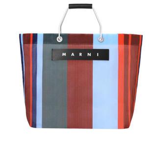 Marni - マルニ  ラッカーレッド ストライプバッグ