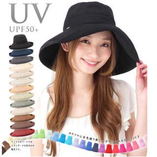 帽子 スカラハット 紫外線カット 黒