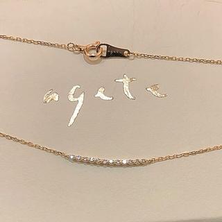 agete - アガット*ダイヤラインネックレス*K10YG