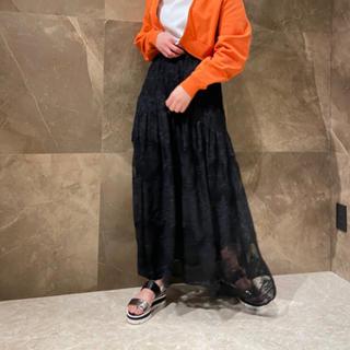 GRACE CONTINENTAL - グレースコンチネンタル 刺繍レーススカート