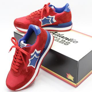 ビームス(BEAMS)の新品 アトランティックスターズ 箱付き ベガ スニーカー ラメ レッド 赤 革靴(スニーカー)