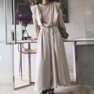 Ameri VINTAGE - Ameri VINTAGE フロントプリーツロングドレス
