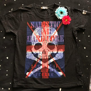 セックスポットリベンジ(SEX POT ReVeNGe)のスカル ドクロ Tシャツ 新品未着用 パンクロック セクポ 黒シャツ 男女兼用(Tシャツ/カットソー(半袖/袖なし))