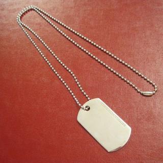 ブルネロクチネリ(BRUNELLO CUCINELLI)の BRUNELLO CUCINELLI IDプレート silver ネックレス(ネックレス)