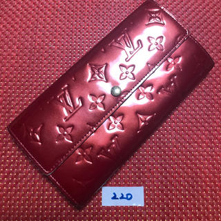 LOUIS VUITTON - 220 ルイヴィトン ヴェルニ  ポルトフォイユ ・サラ 長財布