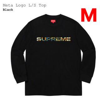Supreme - Supreme Meta Logo L/S Top Black M