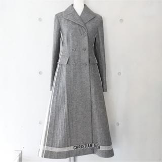 Christian Dior - 定価78 クリスチャンディオール 17AW ロングコート ロゴ入り 34 グレー
