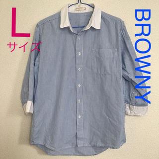 ブラウニー(BROWNY)のストライプシャツブルー(シャツ)