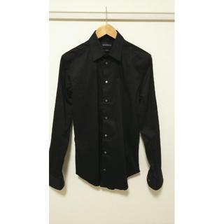 Emporio Armani - ¥50000 エンポリオアルマーニ 長袖 黒シャツ 新品 未使用