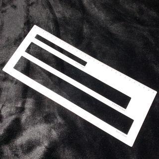 〓折れにくい〓曲げやすい〓ホワイト〓厚さ測定定規 スケール 厚さ定規