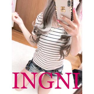 INGNI - 1850.INGNI 細ボーダー柄 カットソー トップス