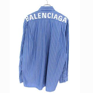 Balenciaga - バレンシアガ 18AS バックロゴオーバーサイズストライプ長袖シャツ