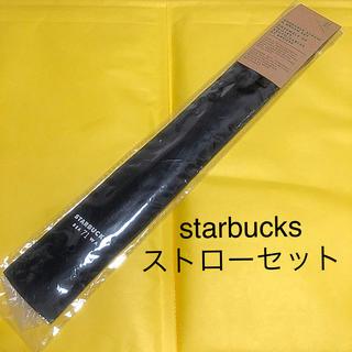 スターバックスコーヒー(Starbucks Coffee)の日本未発売 starbucks スターバックス ストロー セット ベンティサイズ(カトラリー/箸)