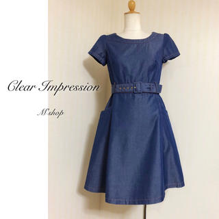 CLEAR IMPRESSION - クリアインプレッション ◆ ベルト付きワンピース ◆