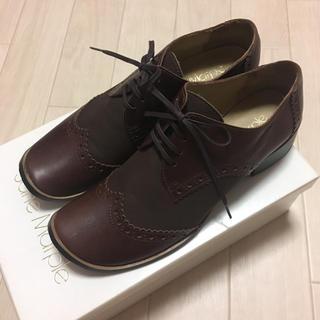 ジェーンマープル(JaneMarple)の未使用 ジェーンマープル 革靴 ウィングチップ(ローファー/革靴)