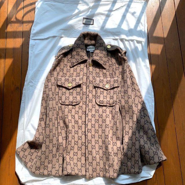 Gucci - 20Cruise GUCCI★GGモノグラムウールケープコートの通販