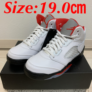 "NIKE - NIKE AIR JORDAN5 RETORO PS ""FIRE RED"""