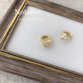 Plage - N-100 flower ring pierce