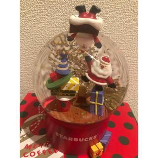 スターバックスコーヒー(Starbucks Coffee)のスターバックス クリスマス 2019 スノードーム ギフトBox 新品 スタバ(置物)