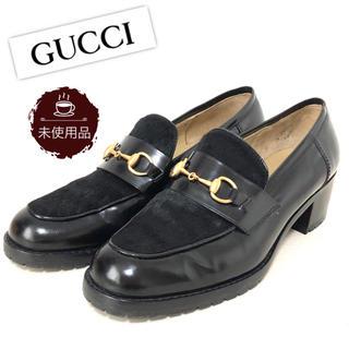 Gucci - 【未使用品】グッチ GUCCI ビットローファー パンプス ハラコ×レザー 37