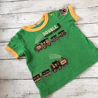 ダブルビー(DOUBLE.B)の【お値下げ中】 ダブルビー Tシャツ  90  汽車(Tシャツ/カットソー)