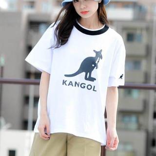 カンゴール(KANGOL)の新品★KANGOL ゆったりシルエット ロゴ Tシャツ 白 Lサイズ(Tシャツ(半袖/袖なし))