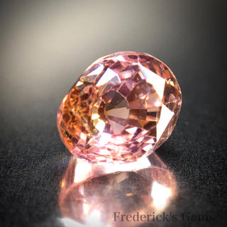1ct UP 柔らかに混ざり合うオレンジとピンク 天然 パパラチァサファイア(リング(指輪))