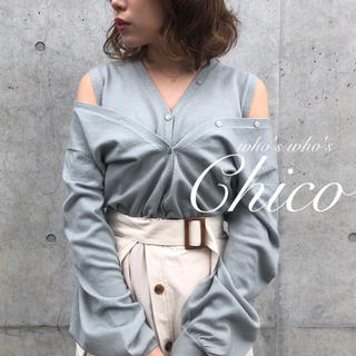 who's who Chico - 春新作🌷【Chico】肩あきレイヤードカーディガン