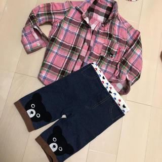 ダブルビー(DOUBLE.B)のダブルビー ダブルガーゼシャツ90cm  スパッツセット(Tシャツ/カットソー)