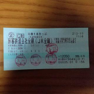 青春18きっぷ残一回(鉄道乗車券)