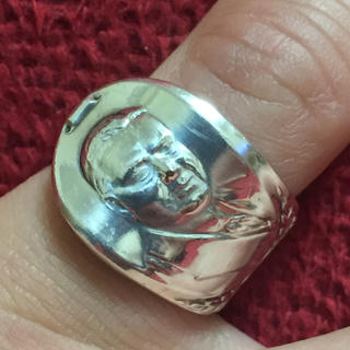 アンティーク スプーンリング 8号 調節可 60s フーヴァー 大統領 836(リング(指輪))