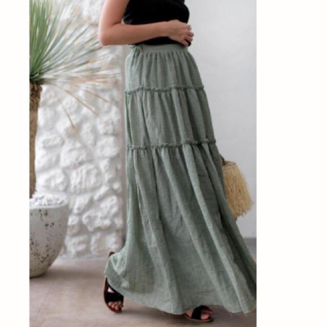 room306 CONTEMPORARY(ルームサンマルロクコンテンポラリー)のroom306  マキシスカート 未使用 レディースのスカート(ロングスカート)の商品写真