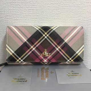 ヴィヴィアンウエストウッド(Vivienne Westwood)のVivienne Westwoodレザー超レアなチェック柄ジップアラウンド長財布(財布)