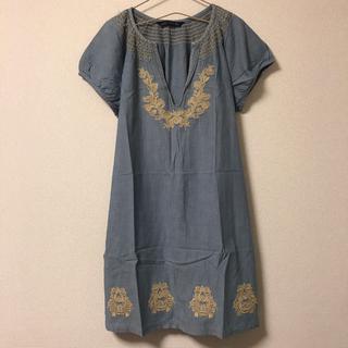 ZARA - ZARA ワンピース 半袖 刺繍